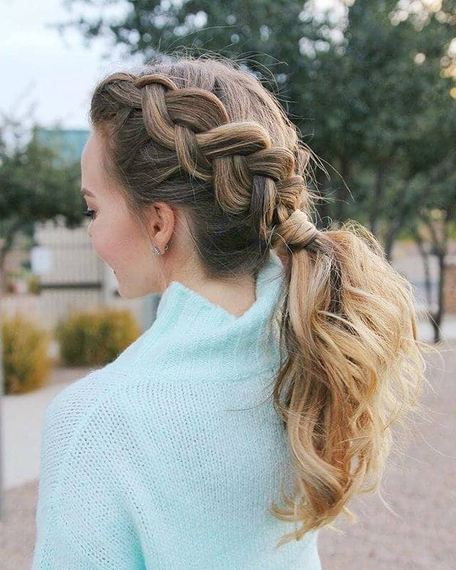 50 Trendy Dutch Braids Hairstyle Ideas To Keep You Cool In 2019 Pertaining To Casual Braids For Long Hair (View 5 of 25)