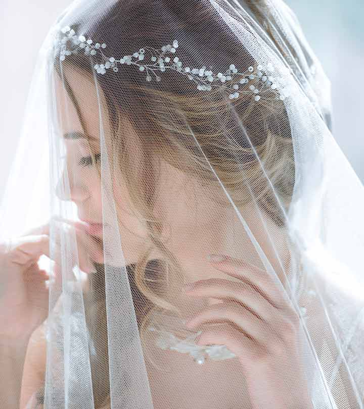 50 Veil Bridal Hairstyles For Your Wedding Day Inside Long Hairstyles Veils Wedding (View 17 of 25)