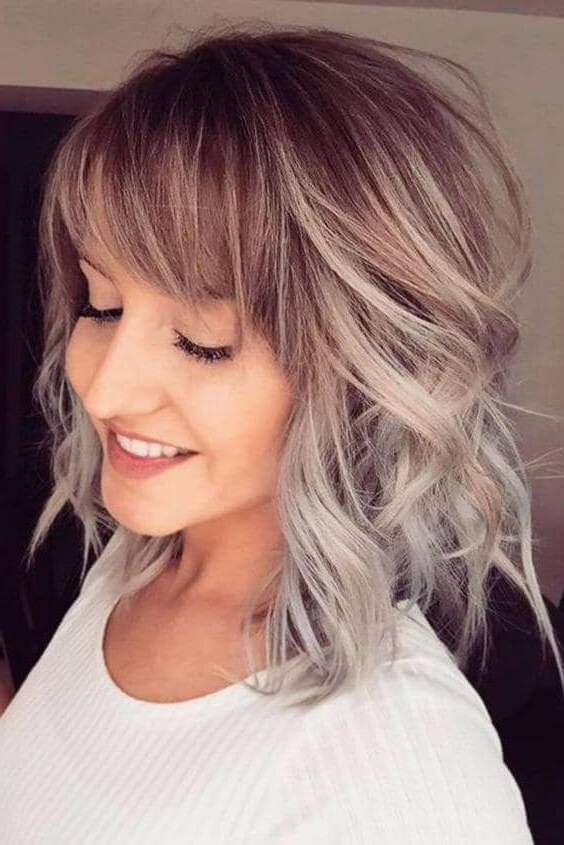 50 Ways To Wear Short Hair With Bangs For A Fresh New Look Regarding Long Hairstyles With Angled Swoopy Pieces (View 9 of 25)