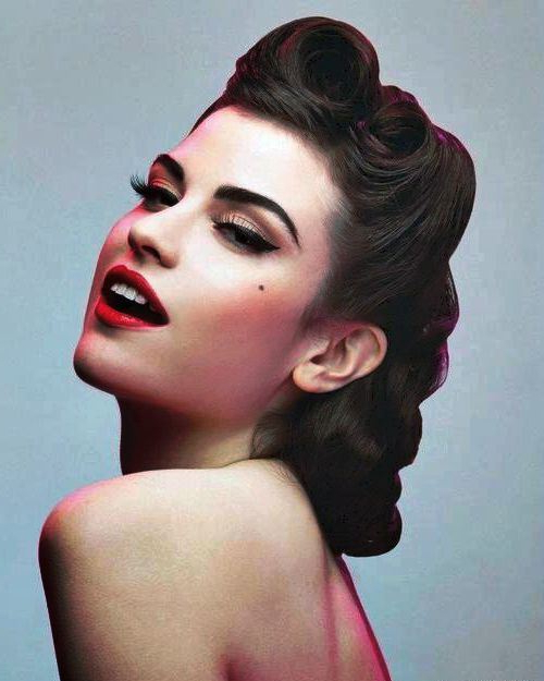 50S Hairstyles: 11 Vintage Hairstyles To Look Special | Hairstylo Throughout 50S Long Hairstyles (View 13 of 25)