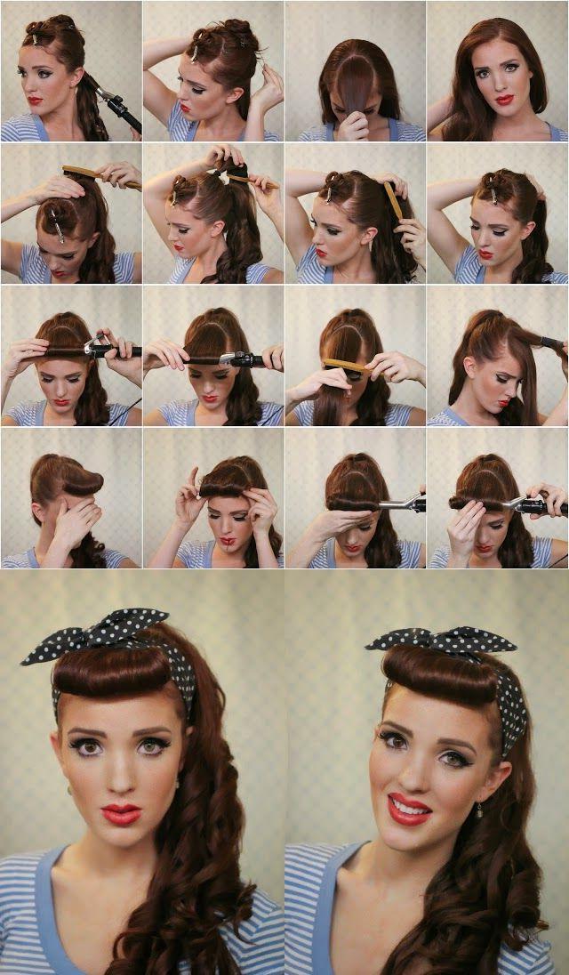 50S Hairstyles For Long Hair Tutorial – Google Search | 50S | 50S With 50S Long Hairstyles (View 2 of 25)