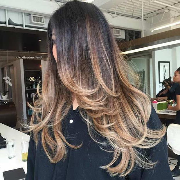 51 Beautiful Long Layered Haircuts | Page 2 Of 5 | Stayglam In Balayage Hairstyles For Long Layers (View 2 of 25)