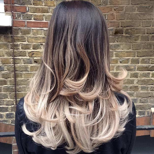 51 Beautiful Long Layered Haircuts | Stayglam For Layered Ombre For Long Hairstyles (View 3 of 25)