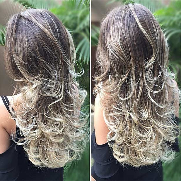 51 Beautiful Long Layered Haircuts | Stayglam Inside Long Layered Brunette Hairstyles With Curled Ends (View 15 of 25)