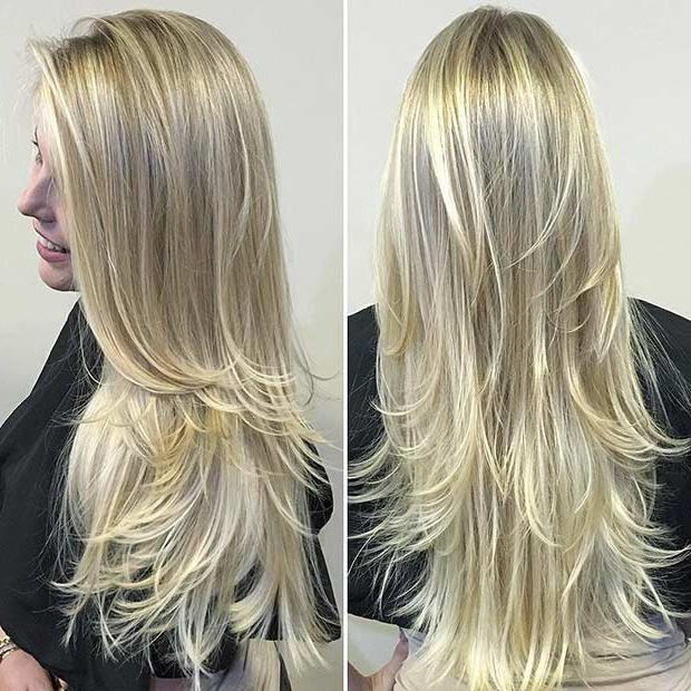 51 Beautiful Long Layered Haircuts   Stayglam Regarding Choppy Layered Hairstyles For Long Hair (View 13 of 25)