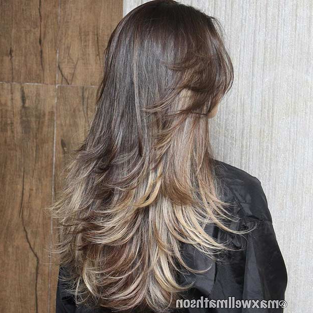 51 Beautiful Long Layered Haircuts | Stayglam Regarding Long Hairstyles Brunette Layers (View 10 of 25)