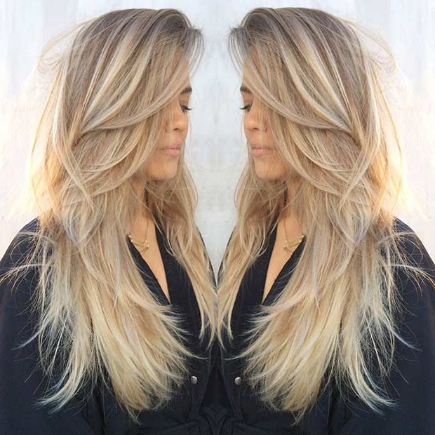 51 Beautiful Long Layered Haircuts | Stayglam With Regard To Brown Blonde Hair With Long Layers Hairstyles (View 16 of 25)
