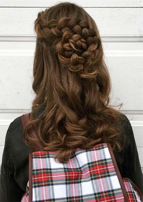 51 Chic Long Curly Hairstyles: How To Style Curly Hair – Glowsly Pertaining To Cascading Curly Crown Braid Hairstyles (View 18 of 25)