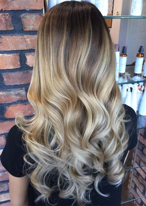 51 Chic Long Curly Hairstyles: How To Style Curly Hair – Glowsly Pertaining To Curly Golden Brown Balayage Long Hairstyles (View 16 of 25)