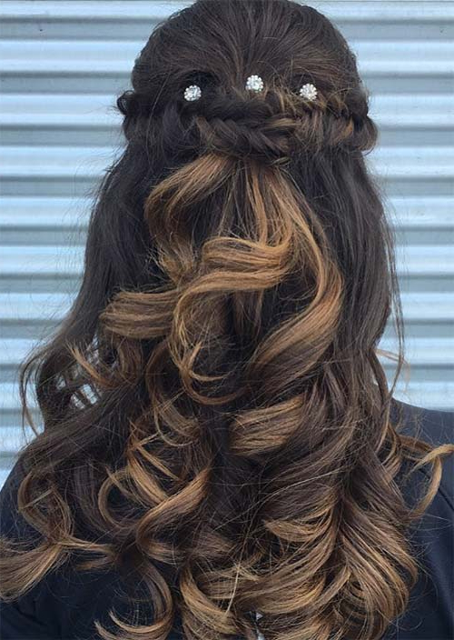 51 Chic Long Curly Hairstyles: How To Style Curly Hair – Glowsly Regarding Cascading Curly Crown Braid Hairstyles (View 23 of 25)