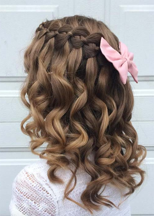 51 Chic Long Curly Hairstyles: How To Style Curly Hair – Glowsly Regarding Cascading Curly Crown Braid Hairstyles (View 6 of 25)