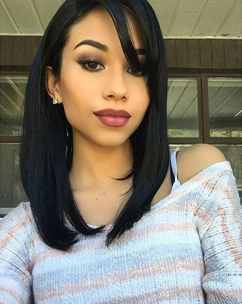51 Cool And Trendy Medium Length Hairstyles | Page 2 Of 5 | Stayglam Pertaining To Medium Long Haircuts With Side Bangs (View 22 of 25)