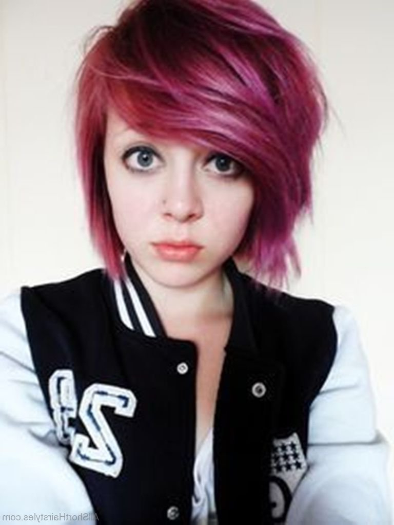 51 Cute Short Emo Hairstyles For Teens Intended For Emo Long Hairstyles (View 16 of 25)