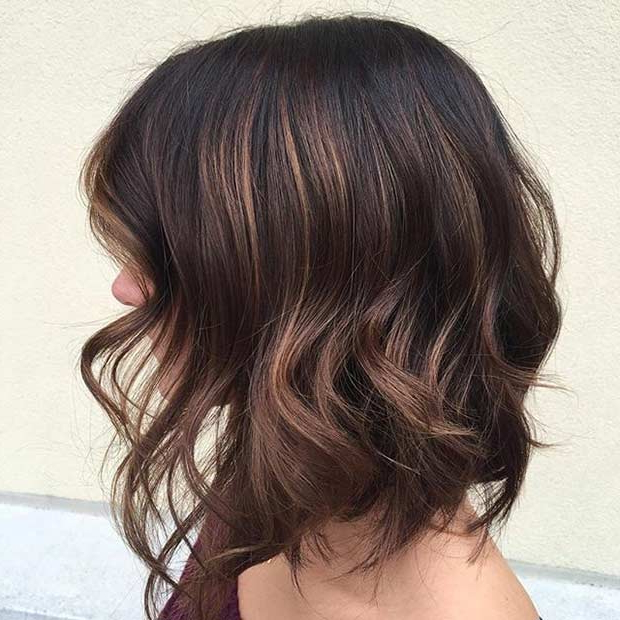 51 Gorgeous Long Bob Hairstyles   Stayglam Intended For Long Layered Light Chocolate Brown Haircuts (View 11 of 25)