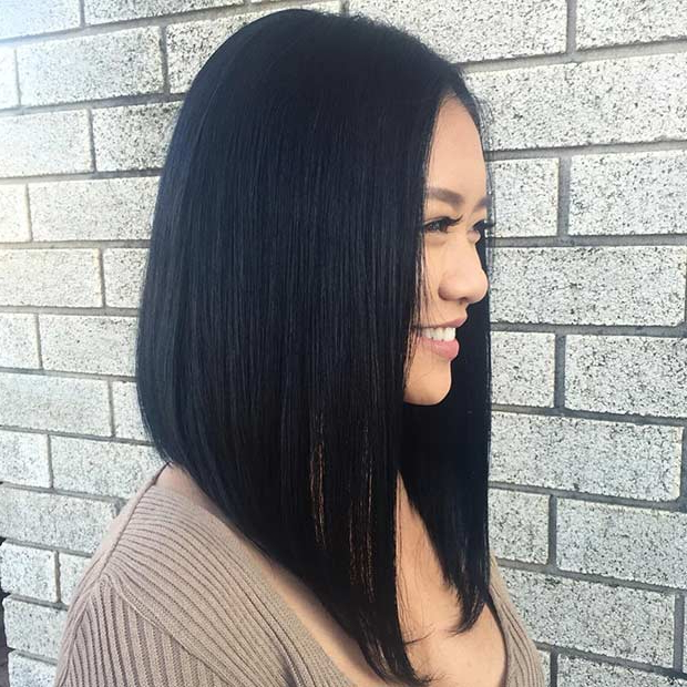 51 Gorgeous Long Bob Hairstyles   Stayglam With Angled Long Haircuts (View 20 of 25)