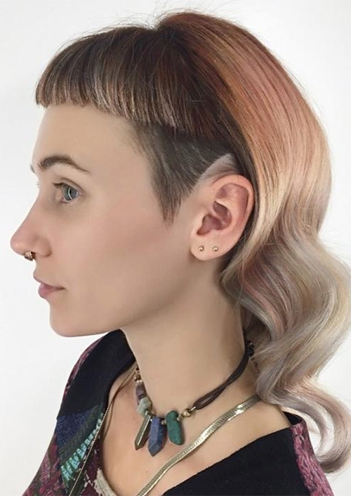 51 Long Undercut Hairstyles For Women In 2019: Diy Undercut Hair For Neck Long Hairstyles (View 24 of 25)