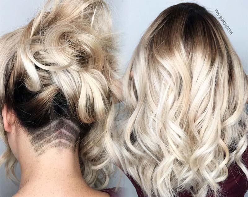 51 Long Undercut Hairstyles For Women In 2019: Diy Undercut Hair With Long Hairstyles Shaved Underneath (View 18 of 25)