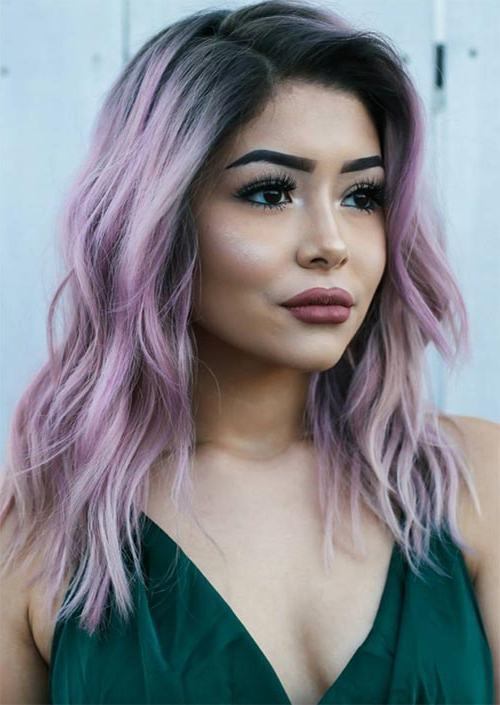 51 Medium Hairstyles & Shoulder Length Haircuts For Women In 2019 For Long Hairstyles Parted In The Middle (View 18 of 25)