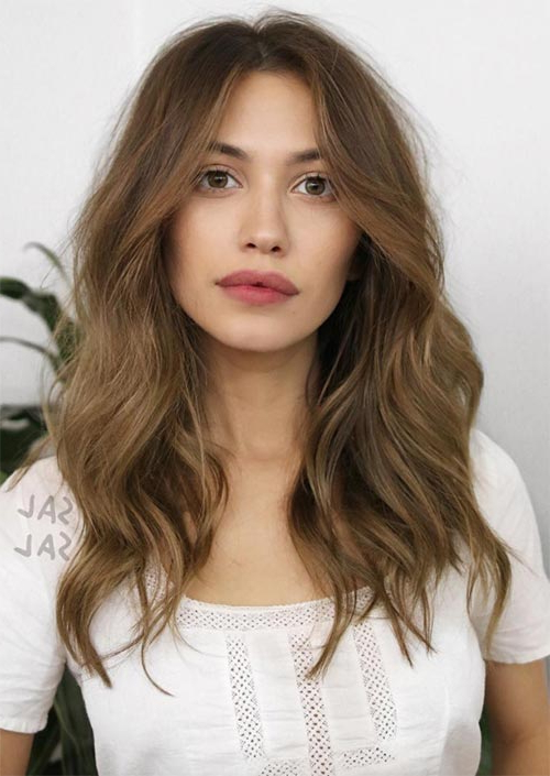 51 Medium Hairstyles & Shoulder Length Haircuts For Women In 2019 Throughout Long Haircuts For Brunettes (View 22 of 25)