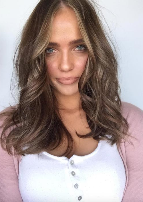 51 Medium Hairstyles & Shoulder Length Haircuts For Women In 2019 Throughout Medium Long Haircuts (View 20 of 25)