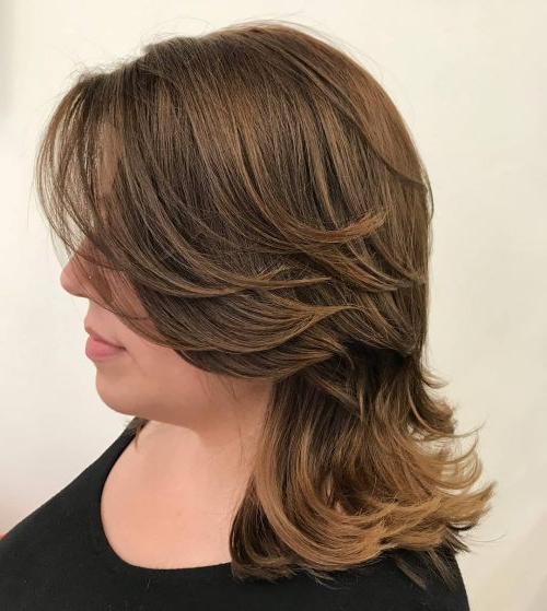 51 Stunning Medium Layered Haircuts (Updated For 2019) Intended For Wrapping Feathered Layers Hairstyles Along The Sides (View 3 of 25)