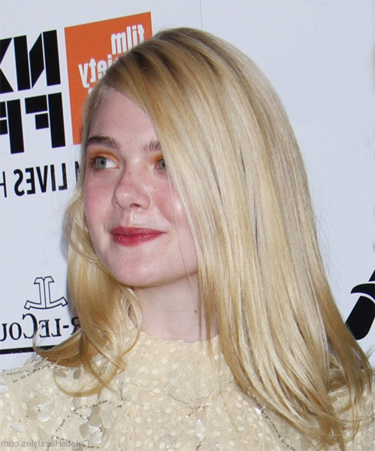 52 Hairstyles Of Elle Fanning With Long Hairstyles Elle (View 11 of 25)