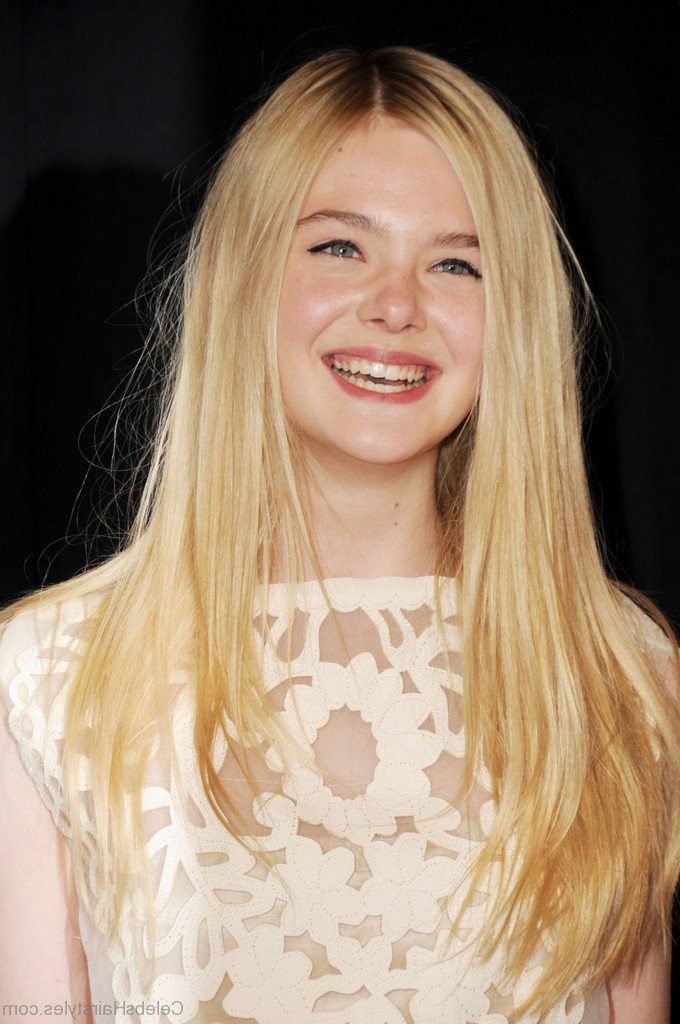 52 Hairstyles Of Elle Fanning Within Long Hairstyles Elle (View 5 of 25)