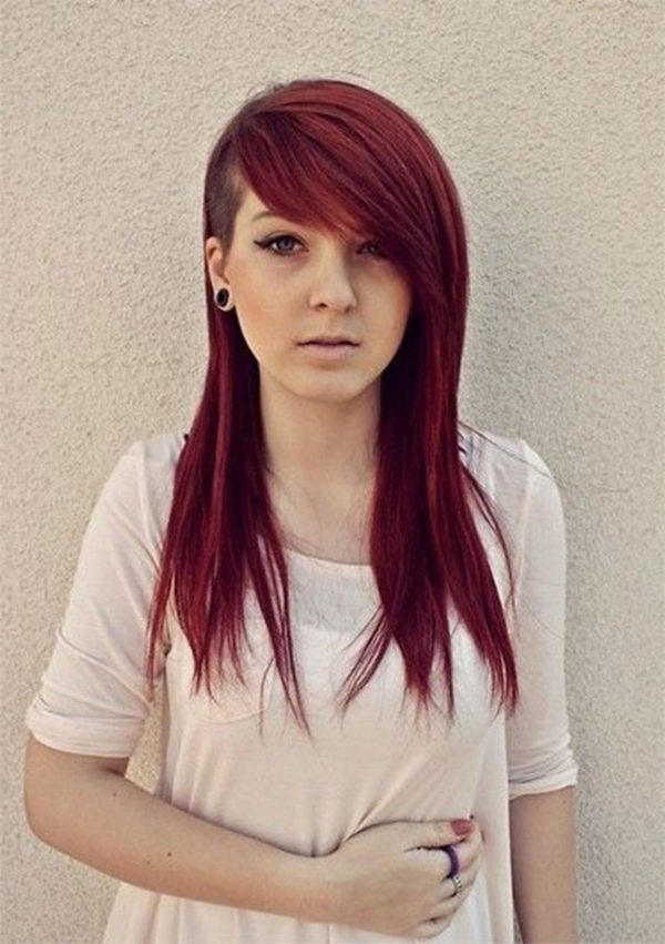 52 Of The Best Shaved Side Hairstyles For Long Haircuts With Shaved Side (View 8 of 25)