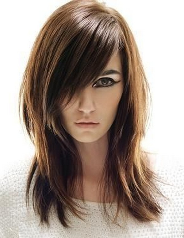 53+ Best New Hairstyles For Round Faces Trending In 2019 Inside Long Haircuts With Layers For Round Faces (View 23 of 25)
