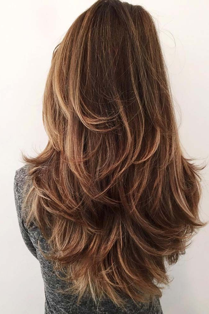 53 Long Haircuts With Layers For Every Type Of Texture   For Me Inside Waist Length Brunette Hairstyles With Textured Layers (View 3 of 25)