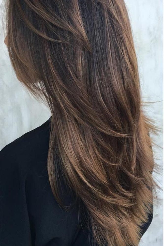 53 Long Haircuts With Layers For Every Type Of Texture | Ronen Girls Throughout Edgy V Line Layers For Long Hairstyles (View 17 of 25)