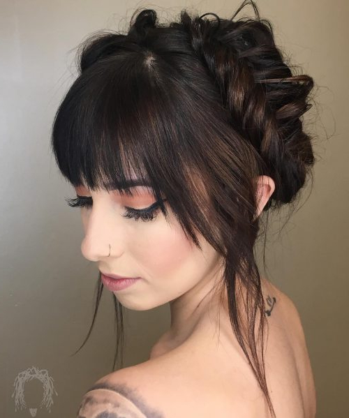 53 Popular Medium Length Hairstyles With Bangs In 2019 In Long Hairstyles Updos With Fringe (View 4 of 25)