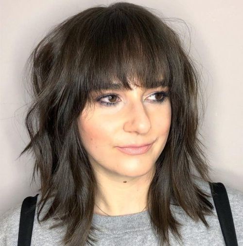 53 Popular Medium Length Hairstyles With Bangs In 2019 In Long Length Hairstyles With Fringe (View 21 of 25)