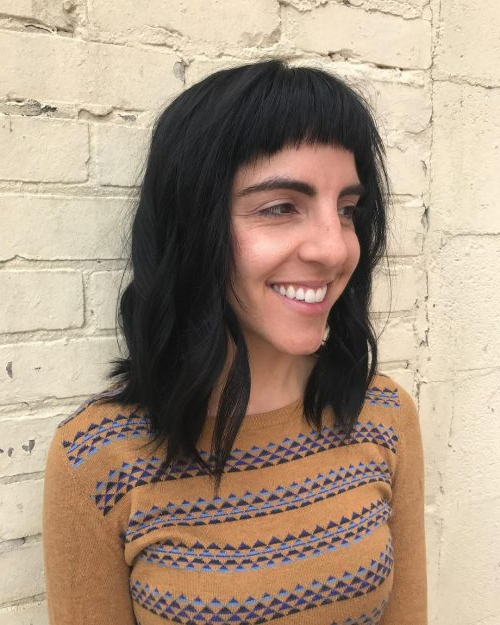 53 Popular Medium Length Hairstyles With Bangs In 2019 Throughout Cute Long Hairstyles With Bangs (View 18 of 25)
