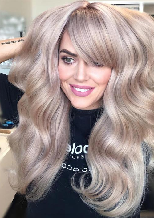 55 Long Haircuts With Bangs For 2019: Tips For Wearing Fringe For Long Haircuts For Thick Hair (View 25 of 25)