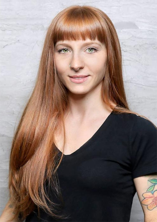 55 Long Haircuts With Bangs For 2019: Tips For Wearing Fringe In Short Fringe Long Hairstyles (View 11 of 25)