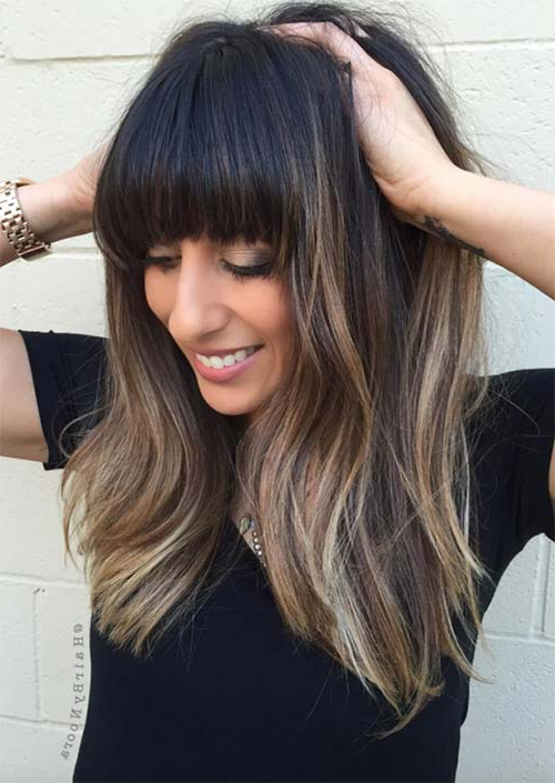 55 Long Haircuts With Bangs For 2019: Tips For Wearing Fringe Inside Long Hairstyles With Fringes (View 5 of 25)