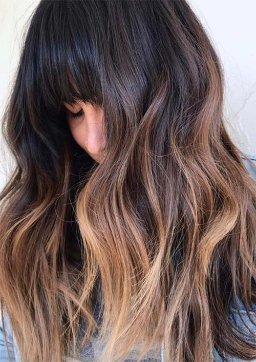 55 Long Haircuts With Bangs For 2019: Tips For Wearing Fringe Intended For Long Layered Waves And Cute Bangs Hairstyles (View 18 of 25)