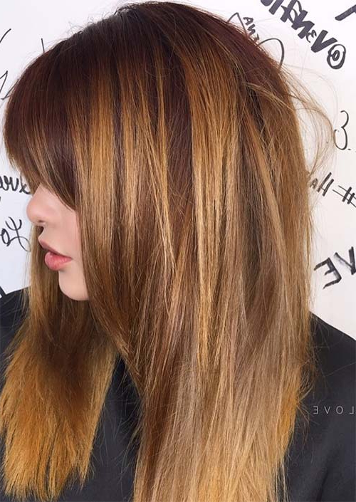 55 Long Haircuts With Bangs For 2019: Tips For Wearing Fringe Intended For Long Texture Revealing Layers Hairstyles (View 19 of 25)