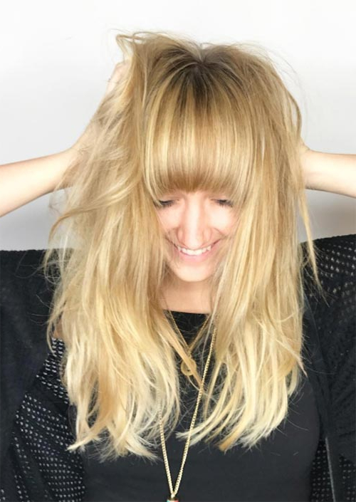 55 Long Haircuts With Bangs For 2019: Tips For Wearing Fringe Pertaining To Long Hairstyles Colors And Cuts (View 19 of 25)