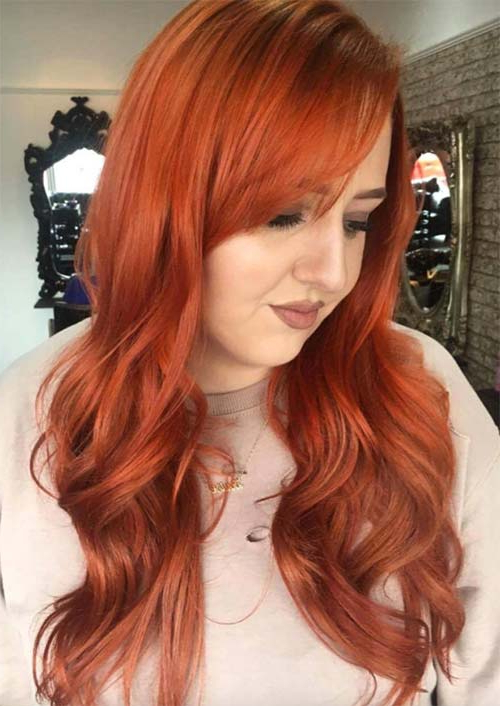 55 Long Haircuts With Bangs For 2019: Tips For Wearing Fringe Pertaining To Long Hairstyles To One Side (View 22 of 25)