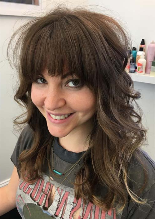 55 Long Haircuts With Bangs For 2019: Tips For Wearing Fringe Pertaining To Long Hairstyles With Fringes (View 7 of 25)