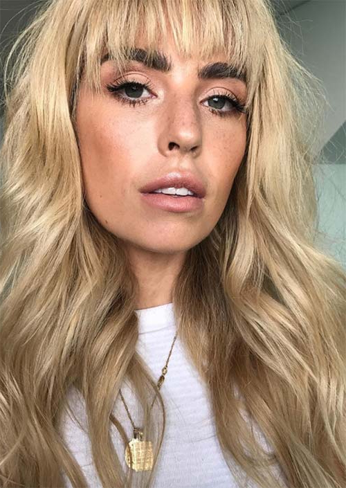 55 Long Haircuts With Bangs For 2019: Tips For Wearing Fringe Regarding Short Bangs Long Hairstyles (View 17 of 25)