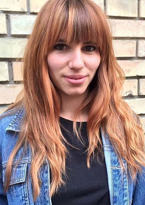 55 Long Haircuts With Bangs For 2019: Tips For Wearing Fringe With Long Haircuts With Fringe (View 13 of 25)