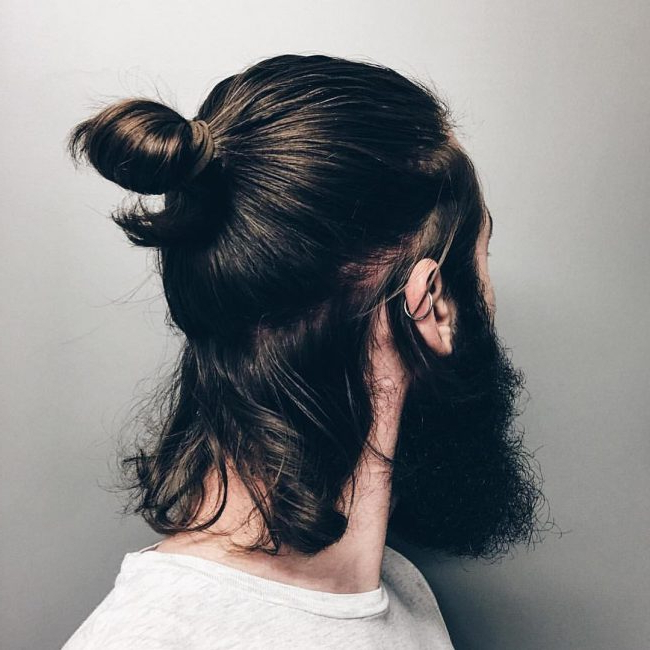 55 New Men's Top Knot Hairstyles – Out Of The Ordinary(2019) In Long Hairstyles Knot (View 19 of 25)