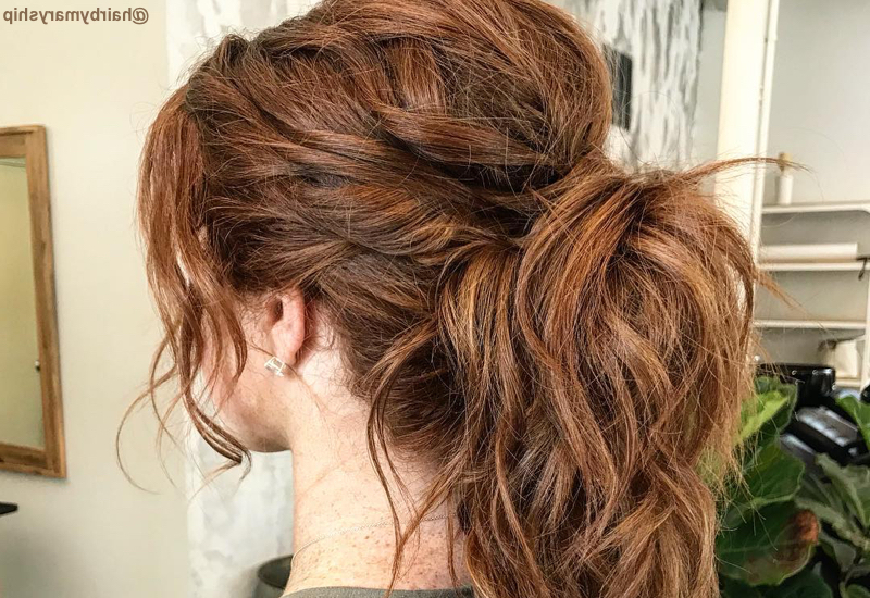 55 Perfect Hairstyles For Thick Hair (Popular For 2019) in Hair Clips For Thick Long Hairstyles