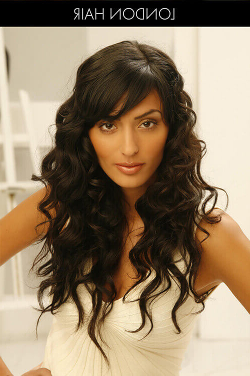 55 Perfect Hairstyles For Thick Hair (Popular For 2019) Within Wavy Curly Long Hairstyles (View 25 of 25)