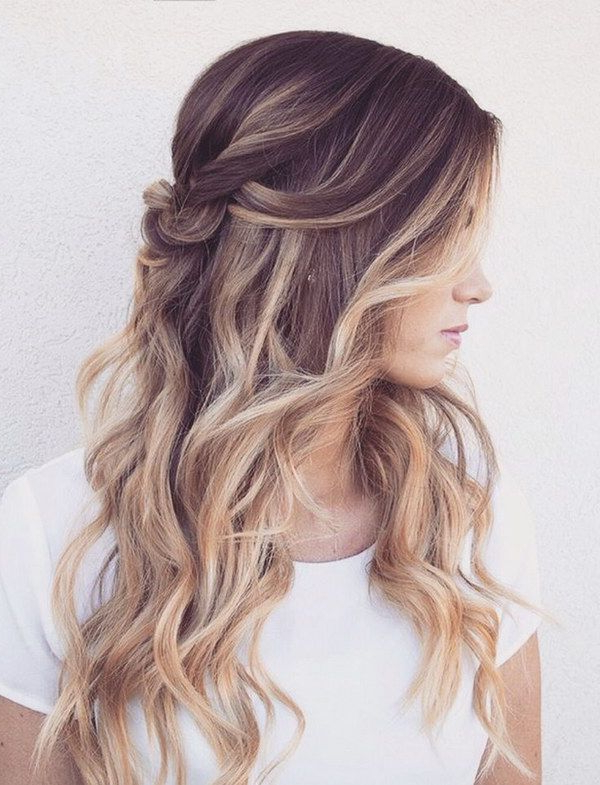55+ Stunning Half Up Half Down Hairstyles | Hairstyles | Best Ombre With Long Layered Half Curled Hairstyles (View 4 of 25)