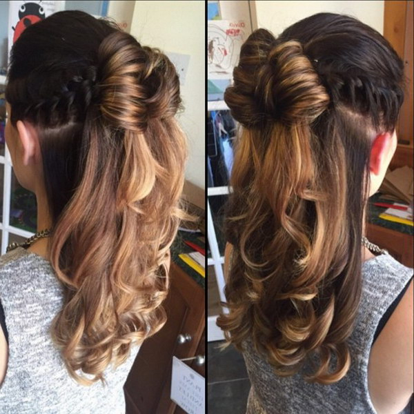 55+ Stunning Half Up Half Down Hairstyles Intended For Long Hairstyles Half Up Curls (View 13 of 25)
