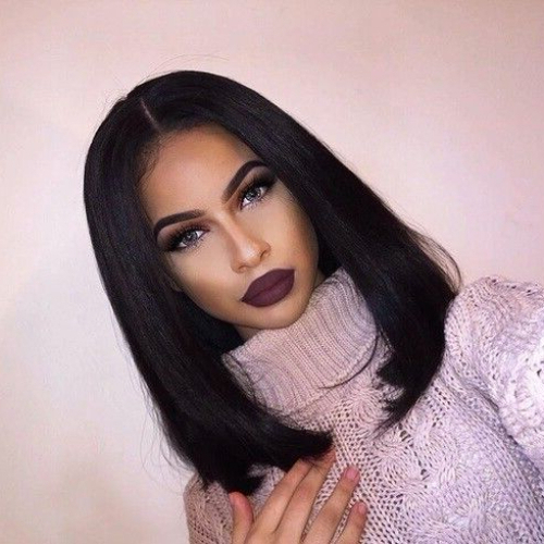 55 Swaggy Bob Hairstyles For Black Women – My New Hairstyles Pertaining To Long Black Bob Haircuts (View 7 of 25)